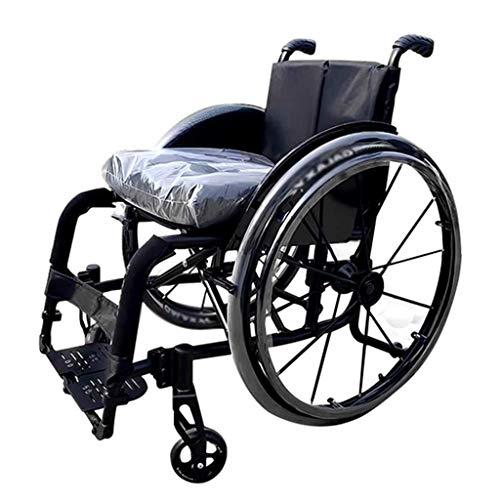 WZB - Wheelchair Sportrollstuhl, Transportstuhl Band Schnell Zerlegbare Reifen, Selbstfahrender Rollstuhl Ergonomisch, Geeignet für Unbequeme Beine und Füße, b