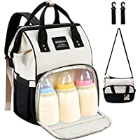 MOSFiATA 2 Stylish Multifuctional Waterproof Travel Diaper Bag Backpack with Stroller Straps