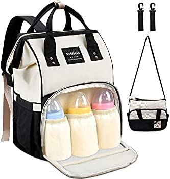 MOSFiATA 2 Stylish Multifuctional Waterproof Travel Diaper Bag Backpack