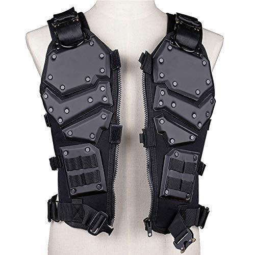 QZY Trustrüstung Transport Vest Erwachsene Männer Spezialkräfte Tactical Paintball Safe Protector Weste,Black