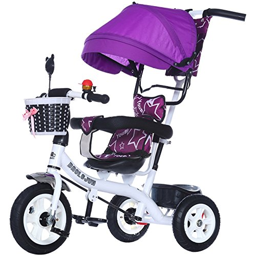 Buy Byrhgood Multi-Function Children's 3-Wheeler, Bicycle, 1-3-5 Year-Old Baby Cart, 3 Wheeler for I...