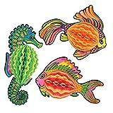 hersrfv home Tissue Fish Mermaid Luau Marine Life Party Birthday Decoration