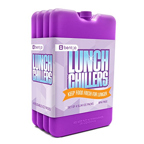 Bentgo Ice Lunch Chillers – Ultra Fine Packs de glace (lot de 4) violet
