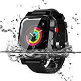 Waterproof Apple Watch Series 2&3 38mm Case, Waterproof Shockproof Impact Resistant Rugged Protective Case with Bulit-in Screen Protector Premium Soft Strap Bands (Waterproof Apple Watch Case 38mm)