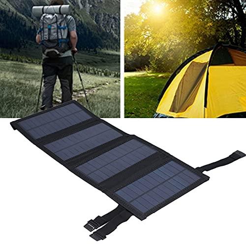 Plyisty Faltbare Solar Power Bank, tragbares Solarzellen-Ladegerät USB-Solarpanel für Camping, Klettern, Wandern, Picknicks(Black, Pisa Leaning Tower Type)