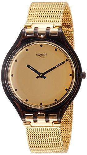 Swatch Reloj Analogico para Mujer de Cuarzo con Correa en Acero Inoxidable SVOC100M