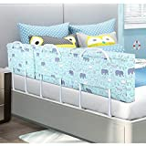 VAIY Bed Fence Baby Fall Prevention Bed Bezel Soft Case Detachable Bed Guardrail (Color : A, Size : 60cm)