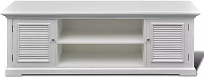 Tidyard White Wooden TV Stand 121 x 30.5 x 41.7 cm White