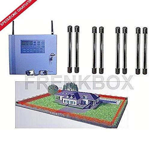 Kit antirrobo alarma GSM inalámbrico con 4 CP Barrera perimetral antiintrusión