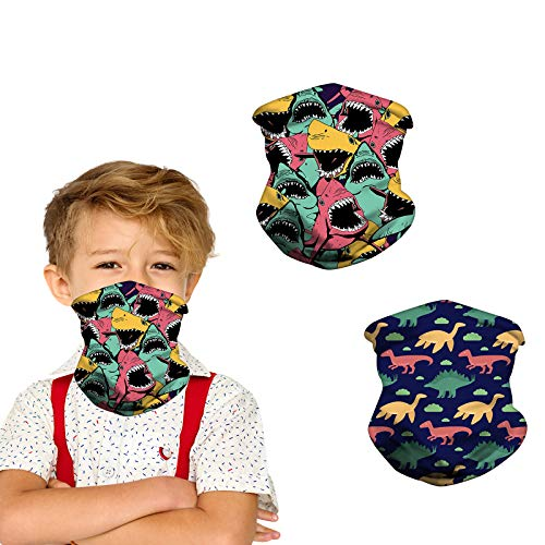 Kids Neck Gaiter Face Mask for Coronavịrus Protection with Ear Loops Sun UV Protection Scarf Bandana Headband for Boys Girls