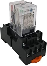 TWTADE/HH54P my4j AC 24V Coil 4PDT 4NO+4NC 14 Pins Electromagnetic Power Relay with Indicator Light add YJF14A Base (Quality Assurance for 2 Years)YJ4N-GS