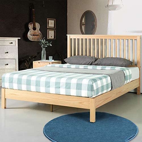 ZINUS Becky Wood Platform Bed Frame / Wood Slat Support / No Box Spring Needed / Easy Assembly, Queen