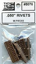 Tichy Train Group All Scale HO/O .050'' Rivets 96 Pcs Plastic Detail Set #8076