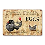 "This ""fresh eggs"" sign is from a collection of holiday gift suggestions for chicken lovers."