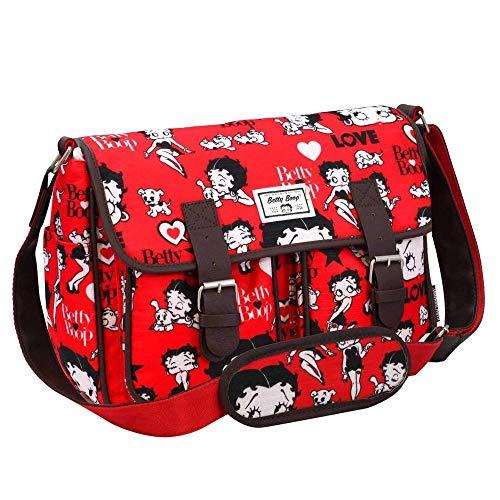 Karactermania Betty Boop Rouge Bolsos Bandolera, 34 cm, Rojo