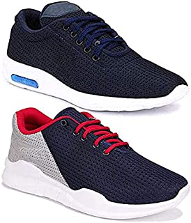 Shoefly Men Multicolour Latest Collection Sports Running Shoes-Pack of 2 (Combo-(2)-9171-11067)