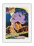 Pacifica Island Art Ana Karénina - con Greta Garbo y Frederic March - Póster de película de Dori c.1935 - Impresión de Arte Papel Premium de Arroz Unryu 61x81cm