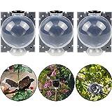 O'woda Dispositivo de Enraizamiento de Plantas Reutilizable, 12 cm Bola Rápida de Crecimiento de Las Raíces, Propagación de la Vaina de Rosas, Árboles, Arbustos (3 Piezas, Translúcido)
