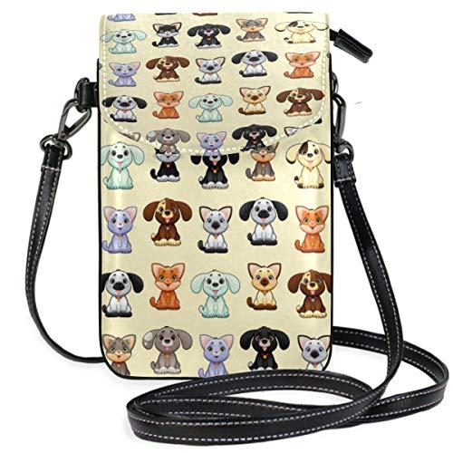 XCNGG Gafas de perro de Navidad Monedero para teléfono celular Bolso bandolera Bolsa Bolsos de hombro Cartera para mujeres Niñas Viajes Boda