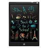 Tableta Escritura LCD Color, 12'' Tablet Escritura Pantalla Colorido Infantil PINKCAT Gráfica Pizarra Dibujo Niños Adecuada Juguete Educativo Regalo para el Hogar, Escuela, Oficina (Negro)