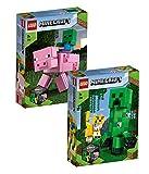 LEGO Minecraft 21156 BigFig Creeper y Ozelot + 21157 BigFig Cerdo con bebé zombi