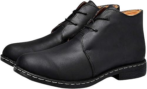 schuhe de hombre herren cuero tobillo Stiefel Vintage encaje-UPS Stiefel casual Chelsea Stiefel trekking y senderismo calzado Martin Stiefel
