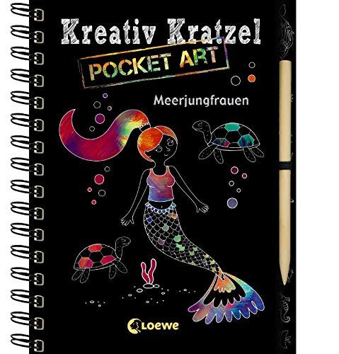 Kreativ-Kratzel Pocket Art: Meerjungfrauen: Kritz-Kratz-Beschäftigung zum Mitnehmen für Kinder ab 5 Jahre (Kreativ-Kratzelbuch)