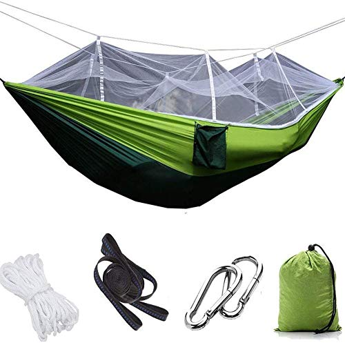 Upgrade Ultralight Portable Nylon Camping Hangmat Klamboe met Rain Fly Tent Tarp voor Outdoor Winddicht, Anti-Mosquito, Swing Sleeping Hangmat Bed