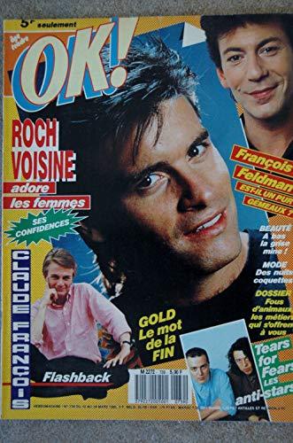OK ! âge tendre 739 MARS 1990 JOHNNY CLEGG VANESSA PARADIS CESARS TEARS FOR FEARS GOLD ROCH VOISINE CLAUDE FRANCOIS