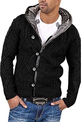 CARISMA Strickjacke Jacke Pullover 7013 [Schwarz, L]