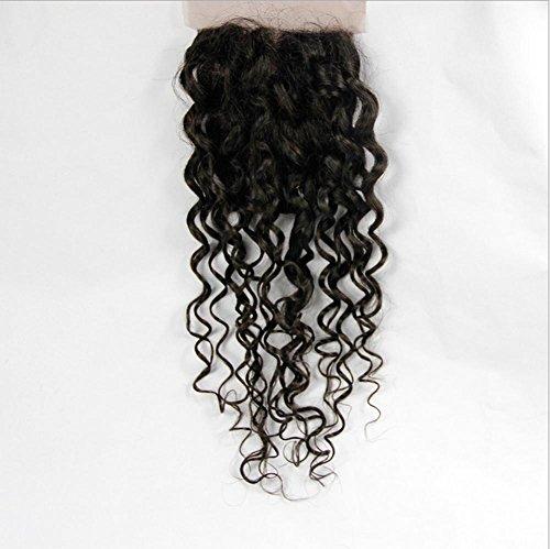 Meylee Postiches 100 % cheveux humains brésiliens eau vague eau bloc tissés à la main fermeture/armure , 16