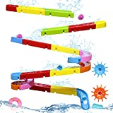 Fajiabao Bath Toys for Kids Ages 4-8 Marble Run Track Toddler Slide Shower Water Game Christmas Birthday Gifts Bathtub Toys for 3-4 Years Old Boys Girls