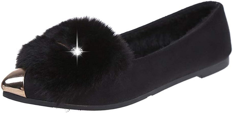 Women Fashion Flat Single shoes Ladies Leisure Slip-On shoes Peas Boat shoes