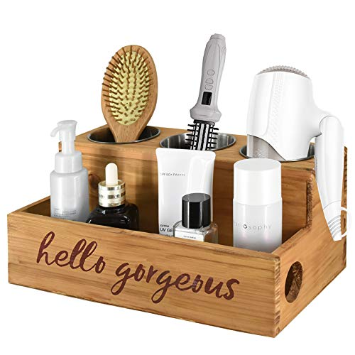 Rustic Blow Dryer Holder Hair Tools and Styling Organizer