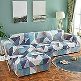 Funda de sofá elástica seccional para Sala de Estar Funda de sofá en Forma de L Funda de sillón decoración del hogar A19 2 plazas