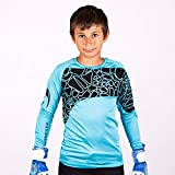 HO Soccer Jersey Furious Camiseta De Portero, Unisex niños, Azul/Negro, 8