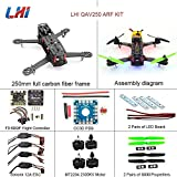 LHI QAV 250mm Quadcopter Frame Racing+ CC3D Flight Controller + MT2204...