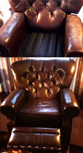 Dark Brown - Leather Max Kit Leather Refinish an Aid to Color Restorer for Larger Jobs Like Sofa or Couch (Leather Repair Kit)