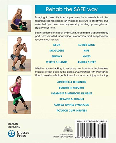 『Injury Rehab with Resistance Bands: Complete Anatomy and Rehabilitation Programs for Back, Neck, Shoulders, Elbows, Hips, Knees, Ankles and More』の1枚目の画像