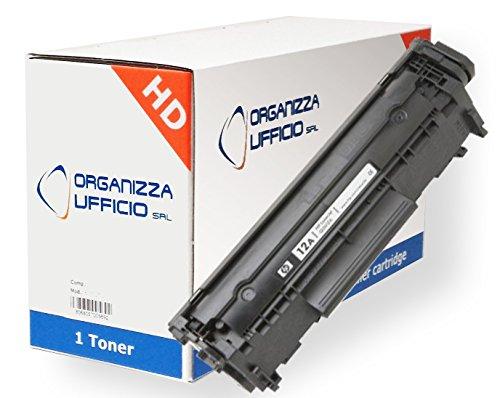 Organizza Ufficio Toner O-Q2612A compatibile con HP Laserjet M1005MFP, 1010, 1012, 1015, 1018, 1020, 1022, 1022N, 1022NW, 3015, 3020, 3030,3050AIO,3052AIO, 3055AIO. i-Sensys Mf4010, Mf4018, Mf4120, Mf41400, Mf4150, Mf4270, Mf4320D, Mf4330D, Mf4340D, Mf4350D, Mf4380DN, Mf4660PL, Mf4690PL, FAXPHONE L95, L100, L120, SATERA MF-4130, MF-4150, MF-4370DN, MF-4960PL, MF-6570