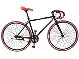 Helliot Bikes Fixie Soho H03 Bicicleta Urbana, Juventud Unisex, Negro, Estandar