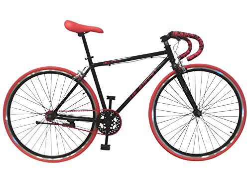 Helliot Bikes Fixie Soho H03 - Bicicleta urbana, color negro Mate, talla única