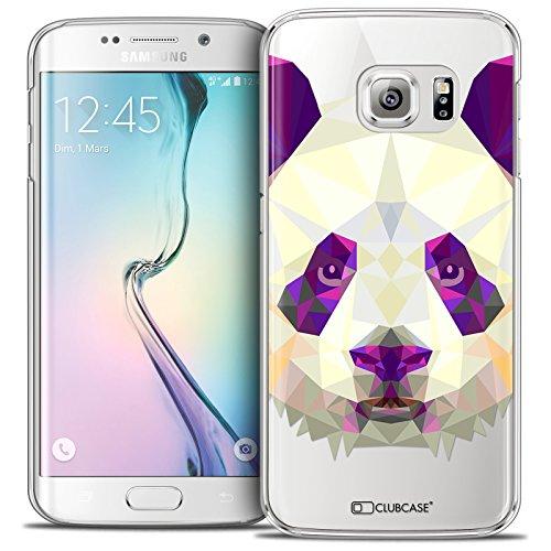 Caseink - Hülle Schutzhülle Case Galaxy S6 Edge [Crystal HD Polygon Series Animal - Rigide - Ultra dünn - Gedruckt in Frankreich] - Panda