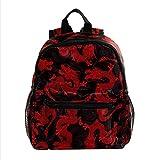 Mochila para niños, mochila escolar con estilo para estudiantes, para niños y niñas, diseño de dragón