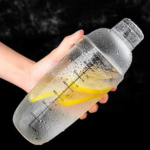 Coctelera de plástico de alta calidad para bebidas, coctelera manual de 700 ml para agitar a mano, para el hogar, tienda de té con leche, barra, herramienta de barman