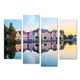 Bild Bilder auf Leinwand Landshuter Altstadt Bayern