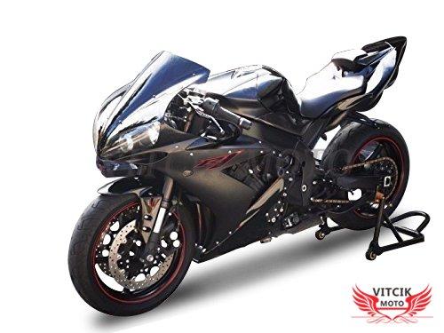 VITCIK Kit completo di carenatura viti bulloni per YZF1000 R1 2009 2010 2011 2012 YZF 1000 R1 09 10 11 12 Serraggio per moto Rosso /& Argento clip in alluminio CNC