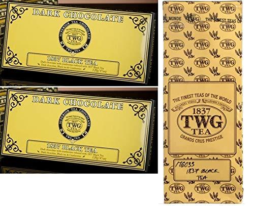 TWGシンガポールの高級紅茶で人気の1837ブラックティーのチョコレート120g2枚 と1837ブラックティー茶葉50gのセット並行輸入品