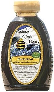 Buckwheat Honey with Cinnamon and Turmeric (Pure Natural Raw Honey) 16 Oz -