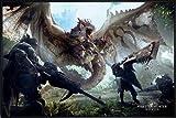 Close Up Monster Hunter World Poster (62x93 cm) gerahmt in: